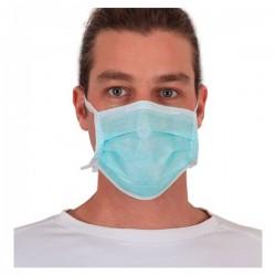 Masque chirurgical 3 plis vert avec liens