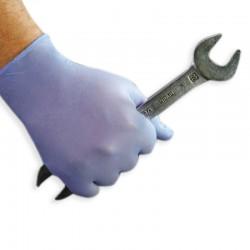 Gant synthétique non poudré bleu